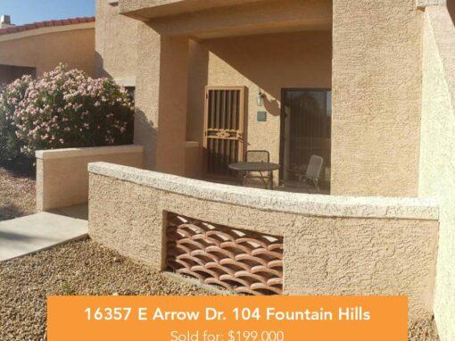 16357 E Arrow Dr. 104 Fountain Hills, AZ 85268