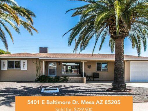 5401 E Baltimore Dr. Mesa AZ 85205